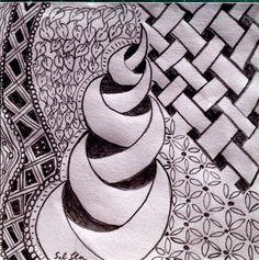 Lieschens-Bilder: Zentangle 183 2014.07.28 Bleistift
