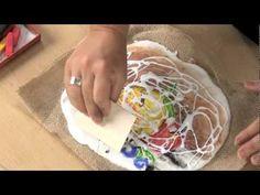 Applying color to dry plaster - perfect when studying Leonardo Da Vinci (The Last Supper)