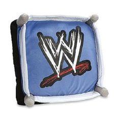 WWE In The Ring Cuddle Pillow Bedding 16X16 WWF WCW ECW Attitude Era Plush
