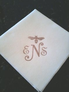 Personalized Cake, Luncheon, Cocktail Napkins, Soft Cloth-Like Paper, Hand-Stamped, Weddings, Hostess Gifts on Etsy, $34.99
