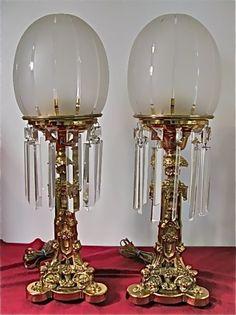 Rare-Rare-Rare matched pair or 1840's signed Cornelius Astral.