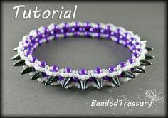 """Beaded bracelet pattern """"Graphite"""" / BEADING TUTORIAL ONLY"""