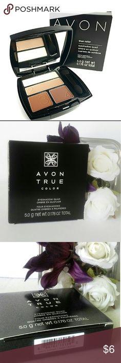Avon True Color Eyeshadow Quad - NIB - Brand New Easy numbered shades for effortless eyes.  Multi-finish.  Color is Warm Sunrise. Avon Makeup Eyeshadow