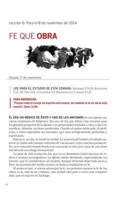 Leccion Fe que obra by Escuela Sabatica via slideshare #LESAdv Descargue aqui: http://gramadal.wordpress.com/