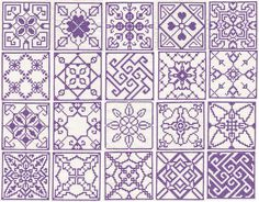 I think the swirly geometric design - second row, third in - would make a fascinating fill pattern.
