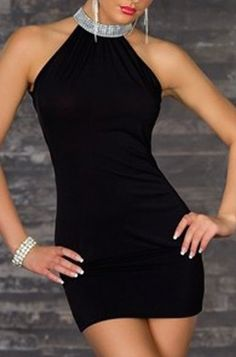 Alluring Round Collar Ruffled Beading Sleeveless Women's Body-con Dress