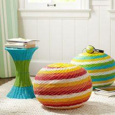 Color Pop Woven Side Tables