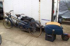 1952 Moto Narcisse Tandem 2stroke 125cc with PAV 40 trailer