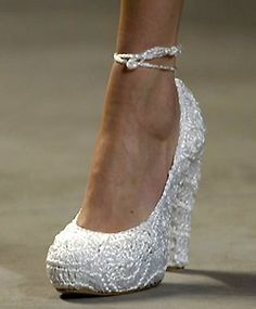 Glammed version of Cinderella's shoes - Wedges better for walking and dancing