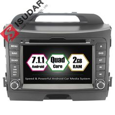 Android 7.1.1 2Two Din 7 Inch Car DVD Player For Kia/SPORTAGE 2010- With 2GB RAM GPS Navigation Radio WIFI USB Quad Core 1.6GHZ