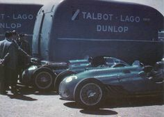 1950 GP Wielkiej Brytanii (Silverstone) #16 Philippe Etancelin(Talbot-Lago T26C) & #17Eugene Martin (Talbot-Lago T26C-DA)
