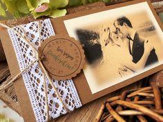 Einladungskarten - DANKESKARTE Hochzeit VINTAGE Danke Danksagung - ein Designerstück von CaSaRoMi bei DaWanda