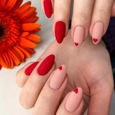 42 Charming red Nail Art Designs To Try This summer nails; - Nail designs 42 Charming red Nail Art Designs To Try This summer nails; Nails Yellow, Purple Nail, Burgendy Nails, Magenta Nails, Pastel Nails, Red Nail Art, Red Acrylic Nails, Red Matte Nails, Red Manicure
