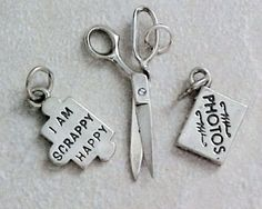 Sterling Silver Scrapbooking Charms 3  Photo Album