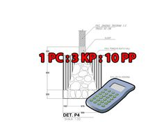 Kalkulator hitung pondasi rumah 1PC 3KP 10PP #kalkulator #pondasi #rumah #pondasirumah