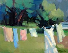 Out to Dry by Trisha Adams Oil ~ 8 x 10