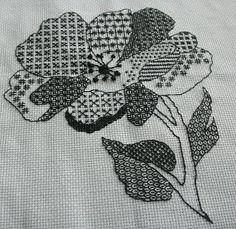 Blackwork flower
