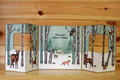 Christmas has arrived at Hobby Art! CS138D 'Nature Trail' A5 Clear set contains 22 stamps. Designed by Sharon Bennett. Overall size of set - All our clear stamps are made with photopolymer resin. This set is perfect for scene building and great to use all year round. Overall size of set - 235mm x 155mm approx. Card made by Sally Dodger