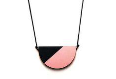 Splice Semi Necklace - Pink Mist/ Indigo