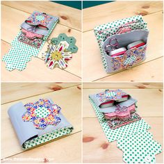 A paper pieced hexagon sewing kit - perfect for sewing hexi's on the go! Get the DIY from The Zen of Making