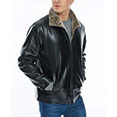 ad41a949daa8a APRAW Mens Leather Jacket Coat Faux PU Fur Lined Warm Outwear Winter Black