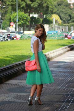 Miss trendy Barcelona: Falda tul