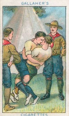"""Gallaher's cigarette card: """"The Twisty Pash""""."""