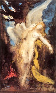 Leda  Artist: Gustave Moreau  Start Date: c.1875  Completion Date:c.1880  Style: Symbolism  Genre: mythological painting  Technique: gouache, watercolor  Dimensions: 21 x 34 cm  Gallery: Musée Gustave Moreau, Paris, France