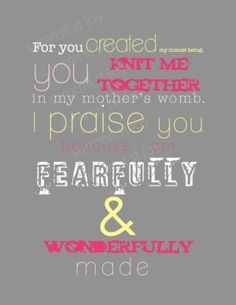 psalm 139:13-14 by elsie