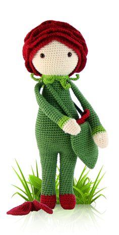 Amigurumi Flower Doll : Daffodil Nancy flower doll - amigurumi - crochet pattern ...