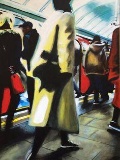 "Saatchi Art Artist Julia Abele; Painting, ""Arearea (Oxford Street Station, London Underground)"" #art"