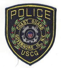 U.S. Coast Guard Governors Island New York Police patch