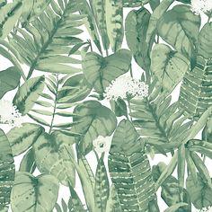 Tempaper Tropical Peel And Stick Wallpaper Green