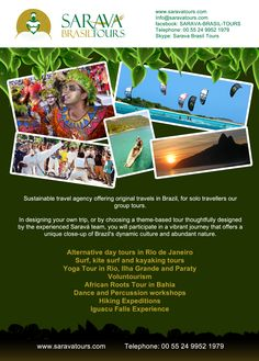 Sarava Tours Flyer design 2, Brazilian Eco tours company