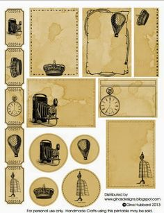 Gina's Designs: Vintage Freebie Printable - for personal use or you may sell han. - Gina's Designs: Vintage Freebie Printable – for personal use or you may sell handmade crafts using the item. Images Vintage, Vintage Tags, Vintage Labels, Vintage Ephemera, Vintage Paper, Vintage Prints, Vintage Diary, Vintage Ideas, Vintage Style