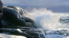 The stunning sample of the sea breakers, Hanko Finland Photo courtesy Patrick to Baggre Archipelago, All Over The World, Finland, Landscapes, Water, Outdoor, Paisajes, Gripe Water, Outdoors