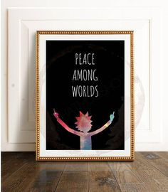 RICK AND MORTY // Peace Among Worlds Poster Printable