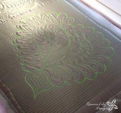 Graffiti Quilting Heart | Satin Mini Quilt | Jen Eskridge | ReannaLily Designs