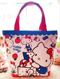 CJB Sanrio Hello Kitty Lovely Multipurpose Lunch Bag (Blue Red) -- You can  get additional details at the image link.(It is Amazon affiliate link)  cat 44062aa2d3