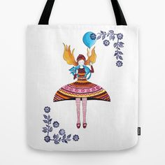Aniversary Girl Tote Bag by Isabel Valfigueira - $22.00