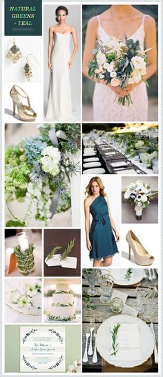 Guest Post: REVEL, Natural Greens & Teal » The Wedding Suite | Nordstrom.com #weddings
