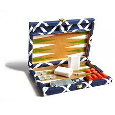 Our Navy Diamond Backgammon Set spotted in @southernliving!