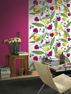 Cleverly packaged in easy to carry boxes, Marimekko Murals are sold in two-piece panels that join together to create a full pattern. Modern Wallpaper, Love Wallpaper, Marimekko Wallpaper, Paradise Wallpaper, Traditional Wallpaper, Cottage Design, Wall Patterns, Decoration, Surface Design