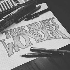 #lettering #calligraphy #writing #wonder #onehitwonder