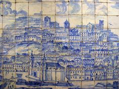 Lisboa antes do terramoto de 1755 (Lisbon before the earthquake of 1755 Museu do Azulejo, Lisboa