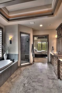 Modern home design Dream House Interior, Luxury Homes Dream Houses, Dream Home Design, Modern House Design, My Dream Home, Dream Bathrooms, Dream Rooms, Luxury Bathrooms, Master Bathrooms