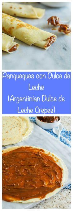Panqueques con Dulce de Leche (Argentinian Dulce de Leche Crepes)…
