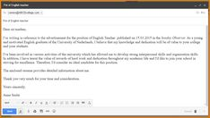 for examples of formal email writing see formal email writing
