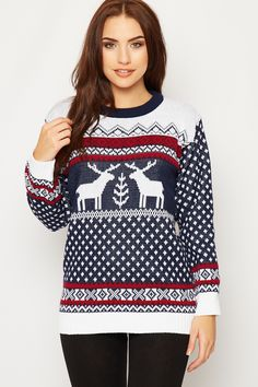 Marcela Knitted Fairisle Christmas Jumper Navy Blue 220x330 Celebrate The Season With The Perfect Christmas Jumper