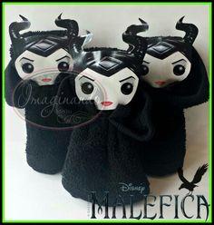 Recuerdos Maléfica de toalla facial  Maleficent towel favors